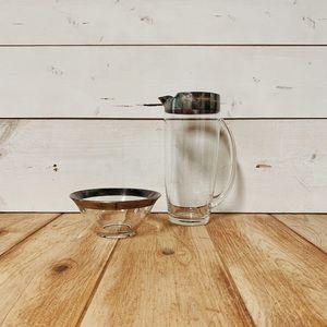 🏡 Mid Century Glass Pitcher & Bowl Set